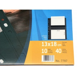 Herma Koszulki 13x18cm 10szt (2 odbitki w poziomie, czarne) 7787