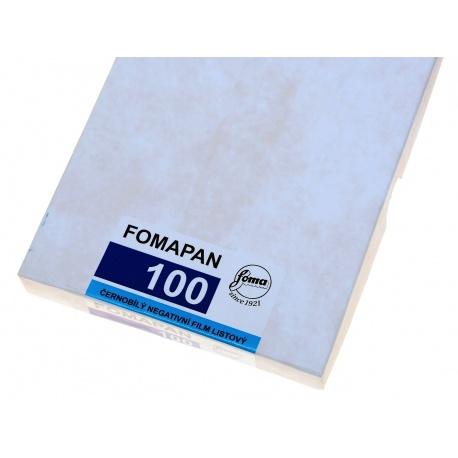 """Foma Fomapan 100 4x5"""" - 10,2x12,7cm/50 błona cięta do aparatu"""
