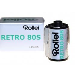 Rollei Retro 80S 135-36 niskoczuły film, klisza czarno-biała