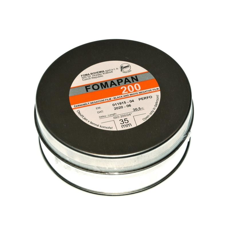 Foma Fomapan 200 30,5m. puszka, film z metra 35mm.
