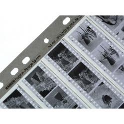 Wywołanie tradycyjne w koreksie filmu czarno białego 35mm.
