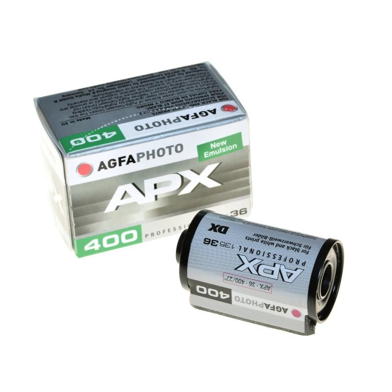 Agfa Agfaphoto APX 400/36 klasyczny film czarno biały 35mm.