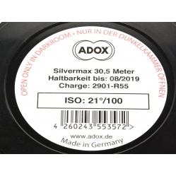 Adox Silvermax 100 puszka 30,5 film z metra szpuli