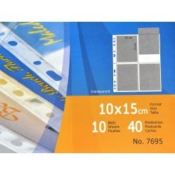 Herma Koszulki folia przezroczysta na pocztówki zdjęcia 10x15 cm (7695)