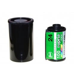Kasetka do filmu 35 mm kod DX 100ASA do filmów ze szpuli z metra