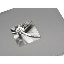 Hama Album Fine Art 24x17cm - 50 kartonowych czarnych stron z pergaminem - szary