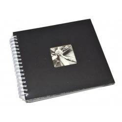 Hama Album Fine Art 28x24cm - 50 kartonowych BIAŁYCH stron z pergaminem - czarny