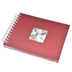 Hama Album Fine Art 24x17cm - 50 kartonowych czarnych stron z pergaminem - czerwony