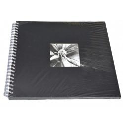 Hama Album Fine Art 36x32cm - 50 kartonowych BIAŁYCH stron z pergaminem - czarny