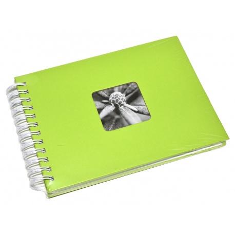 Hama Album Fine Art 24x17cm - 50 kartonowych BIAŁYCH stron z pergaminem - zielony jasny