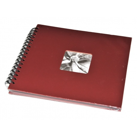 Hama Album Fine Art 24x17cm - 50 kartonowych czarnych stron z pergaminem - brązowy