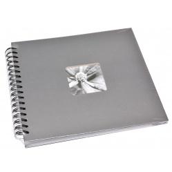 Hama Album Fine Art 28x24cm - 50 kartonowych czarnych stron z pergaminem - szary