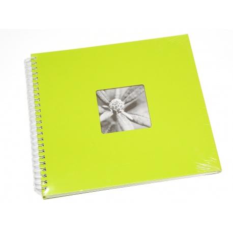 Hama Album Fine Art 36x32cm - 50 kartonowych BIAŁYCH stron z pergaminem - zielony
