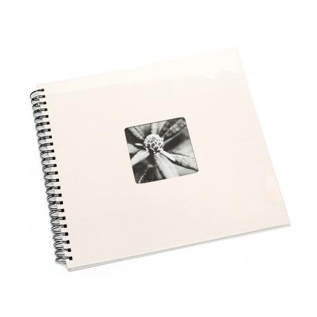 Hama Album Fine Art 36x32cm - 50 kartonowych czarnych stron z pergaminem - biały