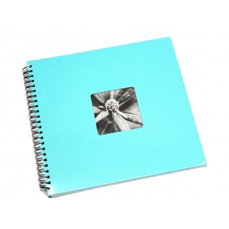 Hama Album Fine Art 36x32cm - 50 kartonowych czarnych stron z pergaminem - turkusowy