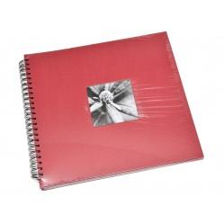 Hama Album Fine Art 36x32cm - 50 kartonowych czarnych stron z pergaminem - czerwony
