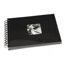 Hama Album Fine Art 24x17cm - 50 kartonowych czarnych stron z pergaminem - czarny