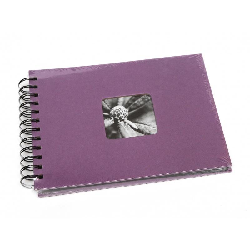 Hama Album Fine Art 24x17cm - 50 kartonowych czarnych stron z pergaminem - fioletowy