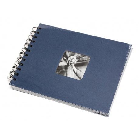 Hama Album Fine Art 24x17cm - 50 kartonowych czarnych stron z pergaminem - granatowy