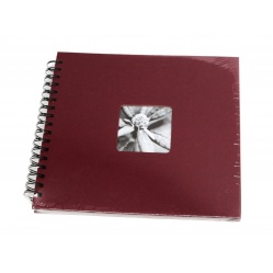 Hama Album Fine Art 28x24cm - 50 kartonowych czarnych stron z pergaminem - bordowy