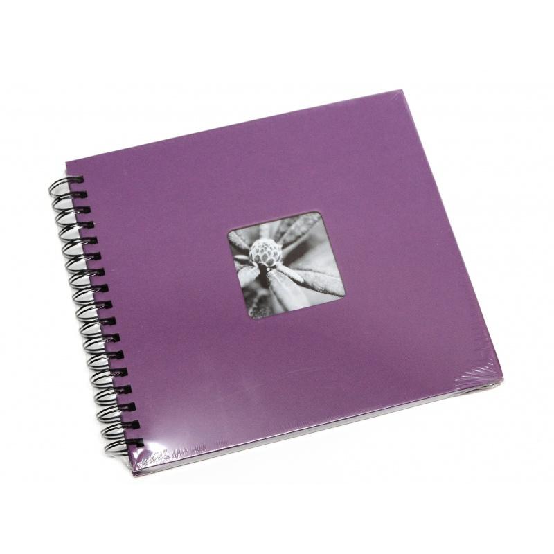 Hama Album Fine Art 28x24cm - 50 kartonowych czarnych stron z pergaminem - fioletowy