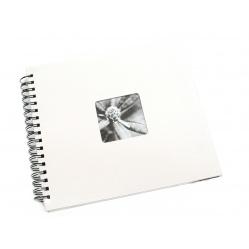 Hama Album Fine Art 28x24cm - 50 kartonowych czarnych stron z pergaminem - biały