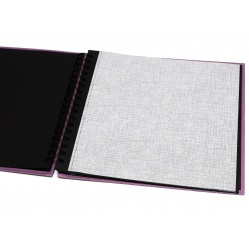 Hama Album Fine Art 28x24cm - 50 kartonowych czarnych stron z pergaminem - turkusowy