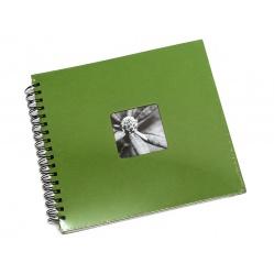 Hama Album Fine Art 28x24cm - 50 kartonowych czarnych stron z pergaminem - zielony