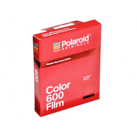 Polaroid 600 Color Film Metallic Red Frame - wkład, ładunek kolor