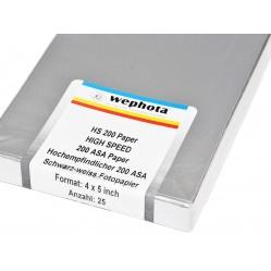 Wephota HS 200 Papier wysokoczuły do otworka 4x5 cala 25x