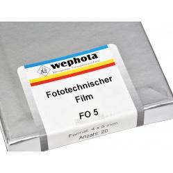 """Wephota Błona graficzna FO5 4x5"""" 20 sztuk ortochromatyczna"""