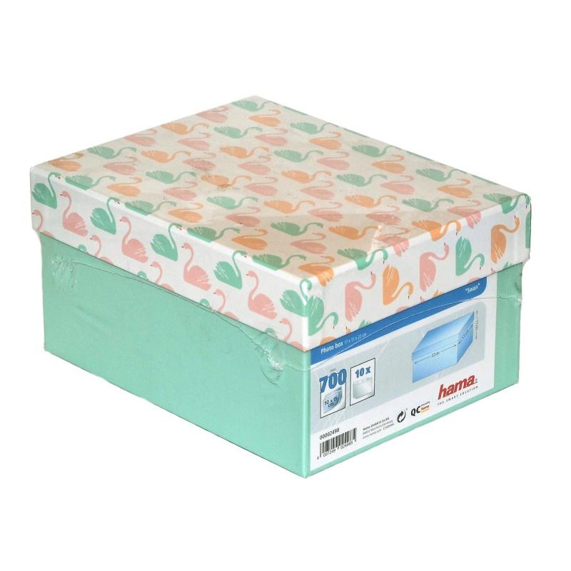 Pudełko Album na zdjęcia 700szt 10x15 cm. 9x13 cm. mięta