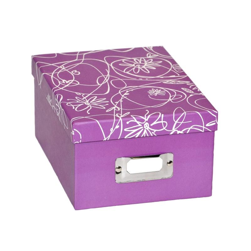 Pudełko Album na zdjęcia 700szt 10x15 cm Decori liliowe