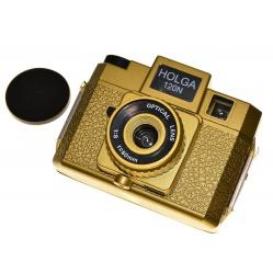 Holga 120 N aparat tradycyjny na zdjęcia 6x6 cm. kolor złoty