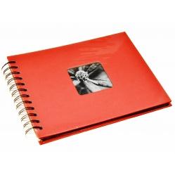 Hama Album Fine Art 24x17cm - 50 kartonowych czarnych stron z pergaminem - kolor flaminga