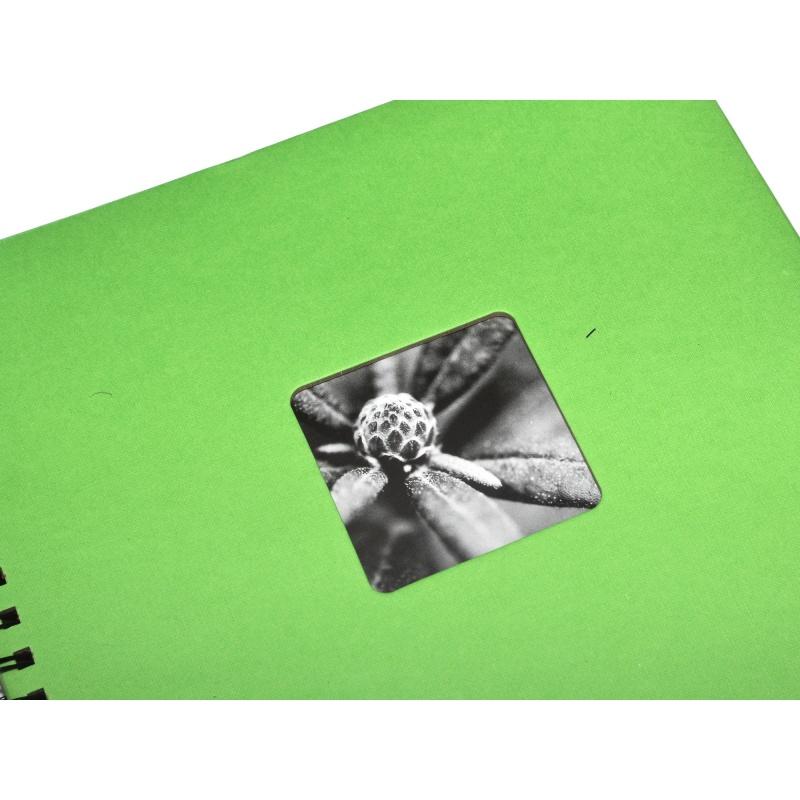 Hama Album Fine Art 28x24cm - 50 kartonowych czarnych stron z pergaminem - groszek
