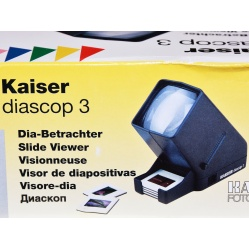 Kaiser Przeglądarka Diascop 3 na baterie lub 230V (2005) do dia i klisz
