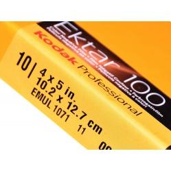 "Kodak Ektar 100 4x5""/10 błona cięta nasycony kolor do aparatu"