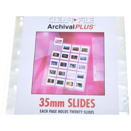 Clearfile Koszulka PP przezroczysta na slajd 24x36 ramka 5x5 - 10szt