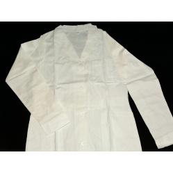 Fartuch biały, długie rękawy - do ciemni rozmiar 36, 38, 40, 42.