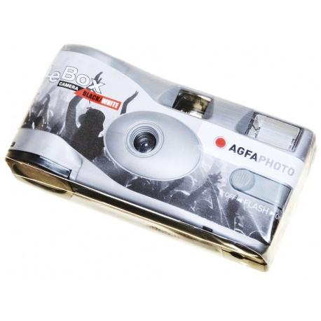 Agfa Aparat jednorazowy z fleszem LeBox 36 zdjęć B&W - na wakacje