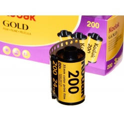 Kodak Gold 200/24 - 1 film z trójpaka do odbitek kolorowych na wakacje