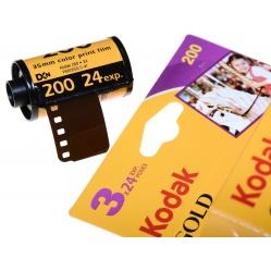 Kodak Gold 200/24 - 3 filmy do odbitek kolorowych na wakacje
