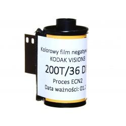 Film kolorowy Kodak Vision3 200T 200/36 DX CineStill ECN2 5213
