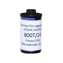 Film srebrowy Kodak Vision3 500T 800T/24 CineStill ECN2 kolor